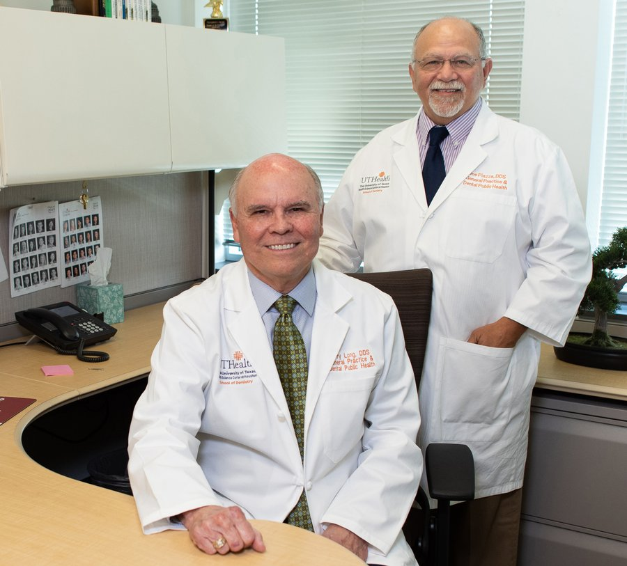 As co-directors of the Practice Consulting Team at UTHealth School of Dentistry at Houston, Drs. S. Jerry Long (left) and Joe Piazza help students and new alumni avoid costly missteps.