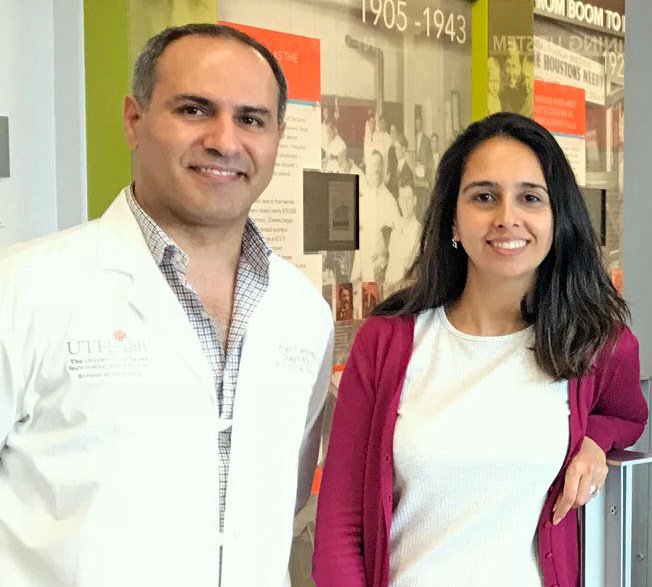 Dr. Walid Fakhouri (left) and his research assistant, Dr. Jessica Bertol.