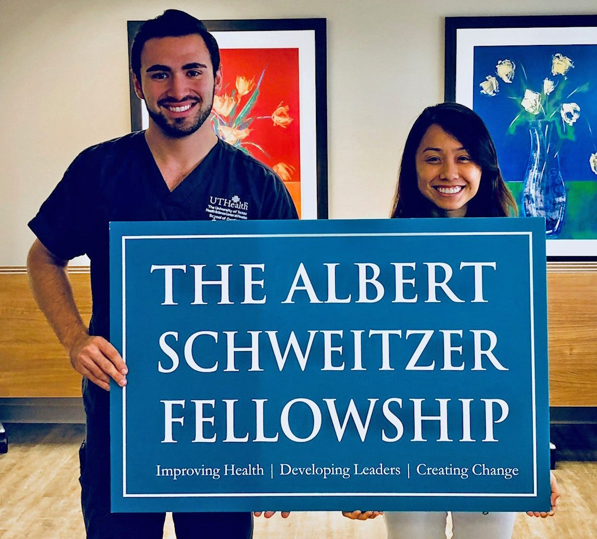 As 2018-19 Albert Schweitzer Fellows, School of Dentistry students Nick Rodriguez and Lac Hong Pham will work to improve oral health in patients with spinal cord injuries.
