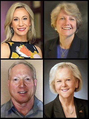 UTSD alumni nominated for 2020 Texas Dentist of the Year™ include (clockwise from top left) Drs. Nikki Green of Fort Worth, Glenda Owens of Houston, Karen Walters of Houston, and Russell Toler of Odessa.