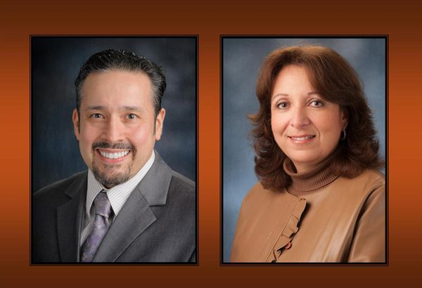 Dr. Joe Ontiveros and Dr. Magda Eldiwany