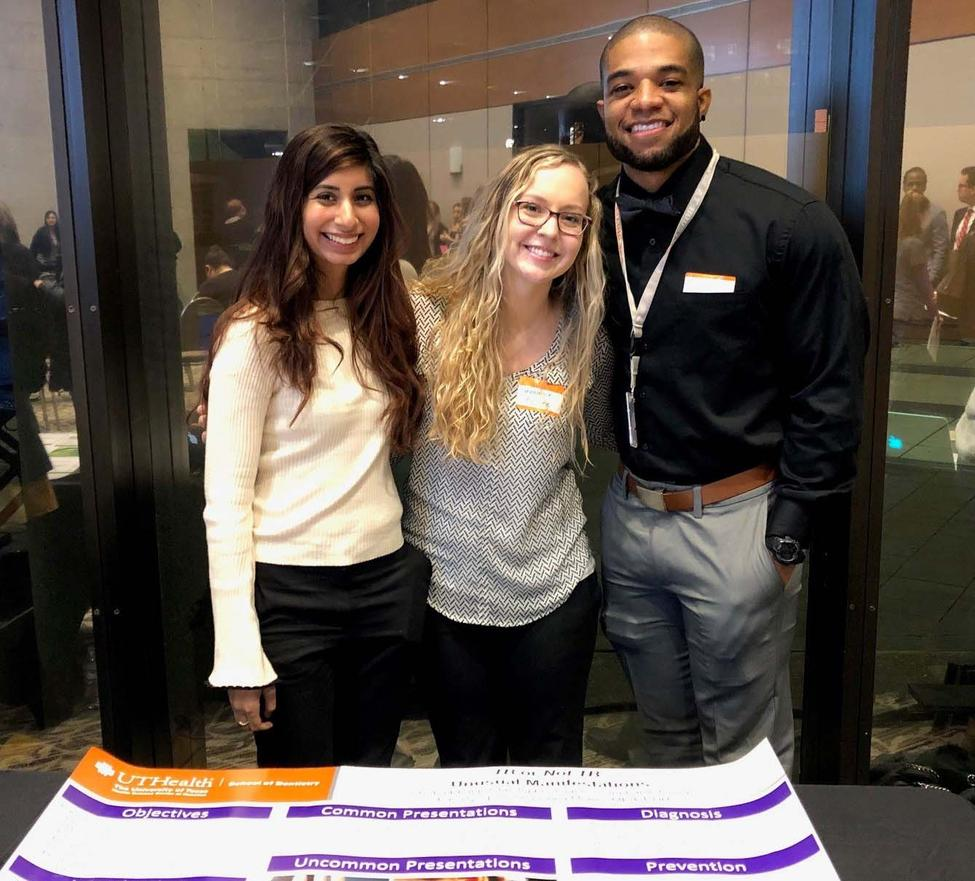 From left are Alysha Bhanji, Stephanie Gulick, and Christopher Grimes, who tied with another UTSD group for second place.