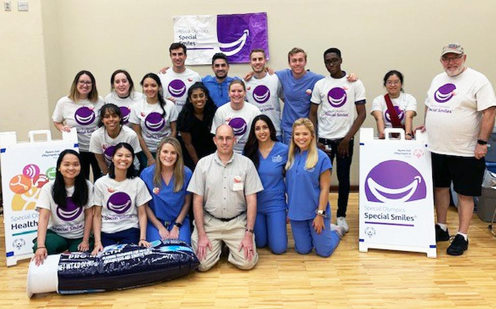 Students and faculty from UTHealth School of Dentistry at Houston volunteered at the Special Olympics Fall Classic Games in College Station.