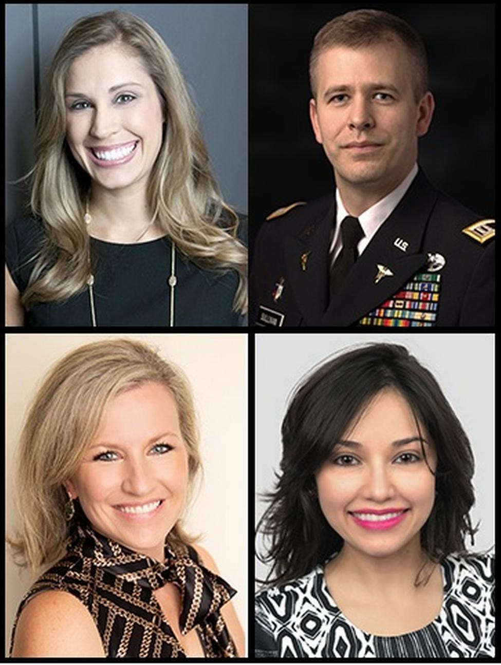 Nominees for Texas New Dentist of the Year™ include UTSD alumni (clockwise from top left) Drs. Katie Stuchlik of Houston, Michael Sullivan of Keene, Melissa Uriegas of Harlingen, and Courtni Tello of Texas City.