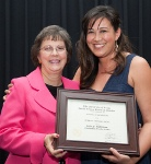 McGovern Award winner Debra Stewart, DDS (left) with Student Council President Patricia Chao.