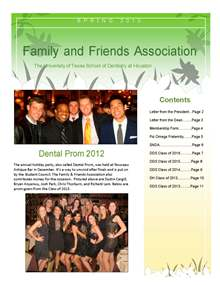 UTSD Family & Friends Association Newsletter