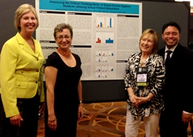 From left: UT School of Dentistry dental hygiene faculty members Joanna Allaire, RDH; Victoria Patrounova, RDH; Darla McKitrick, RDH; and Harold Henson, RDH were presenters at the American Dental Hygienists' Association annual session in Boston.