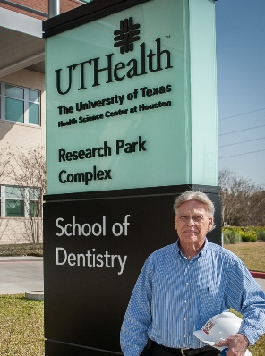 Senior Project Manager Tony Lentola, PMP, was the owner's representative for UTHealth during construction of the School of Dentistry building and two other major facilities for the university. He will retire March 31. Photo by Brian Schnupp.