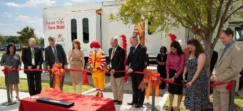 The new Ronald McDonald Care Mobile will be staffed with UT School of Dentistry faculty, staff and students.