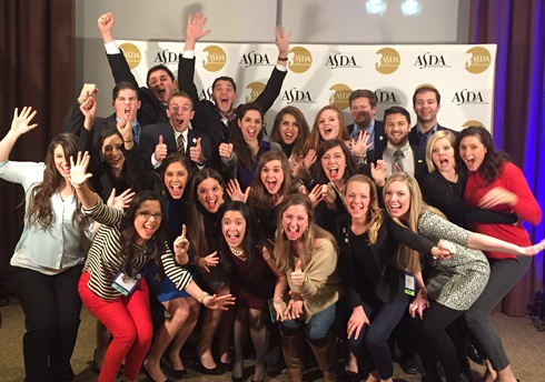UTSD ASDA Chapter members celebrate winning a Gold Crown Award at the 45th ASDA Annual Session in Boston in February.