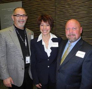 Dr. Valenza with Dr. Jeanne Panza and her fiance, Jonathan Sutton, at the New Faculty Reception