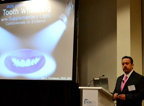 Dr. Joe Ontiveros spoke at the recent IADR General Meeting in Cape Town, South Africa.