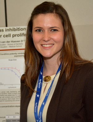 First-year dental student Glennis Katzmark, sponsored by Dr. Dharini van der Hoeven, won the SCADA Award and first place in the Dental Student category. Photo courtesy of Greater Houston Dental Society.