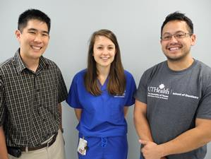 Associate Professor Ryan Quock, DDS (left) and second-year dental students Mary Glasheen and Gregory Luk hope to organize another Group Learning Initiative for the Class of 2018.