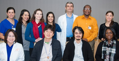 New UTSD faculty who completed new faculty orientation include (front from left) Cristina Brown, RDH; Dr. Junichi Iwata, Dr. Ransome van der Hoeven, Dr. Ezzine Ogbureke; (back row from left) Dr. Rebeca Urquiola-Graham, Dr.  Yonca Korkmaz Ceyhan, Dr. Christina Clark, Dr. Fehmida Dosani, Dr. Nikola Angelov, Dr. Lincoln Edwards and Instructor Alix D'Angelo. Participants not pictured include Dr. Walid Fakhouri, Dr. Brett Chiquet and Dr. Carla Rogers.