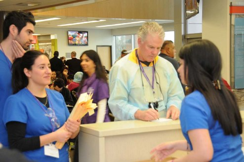 Nearly 700 volunteers worked together to deliver two days of free dental care in February at The University of Texas School of Dentistry at Houston. Photo by Dwight C. Andrews.