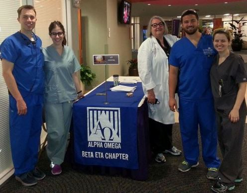 Alpha Omega volunteers From left are Justin Tullis, Alana Reifer, Dr. June Sadowsky, Francisco Nieves and Allison Whitman.